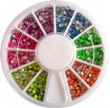 6 Candy Colour round 2mm Decoration